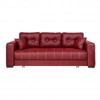 Canapea extensibila 3 locuri Leon, cu lada, bordo, 240 x 100 x 80 cm, 3C