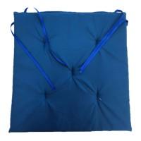 Perna scaun Atria, poliester, albastru, 38 x 37 cm