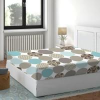 Cearceaf de pat, 100 % bumbac, multicolor, 160 x 200 cm