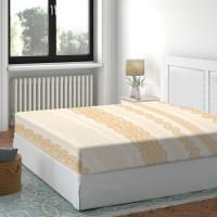 Cearceaf de pat, 100 % bumbac, ocru, 180 x 200 cm