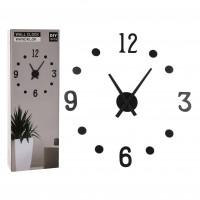 Ceas de perete HX9000160, analog, rotund, MDF, negru, 4 x 10 x 23.5 x 30 cm