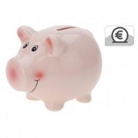 Pusculita pentru copii Koopman, 554888320, model porcusor, ceramica, roz, 11.5 x 9.1 x 9.1 cm