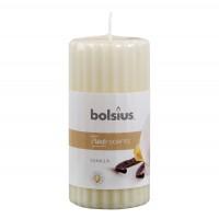 Lumanare parfumata Bolsius, tip stalp, vanilie, 12 x 6 cm