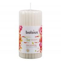 Lumanare parfumata Bolsius, tip stalp, grapefruit + ghimbir, 12 x 6 cm