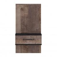 Noptiera Colonial, cu 1 sertar, stejar colonial + carbune, 50 x 40.5 x 96.5 cm, 2C