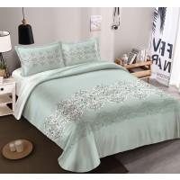 Lenjerie de pat Caressa BC0445 221, 2 persoane, microfibra, imprimeu, 4 piese