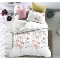 Lenjerie de pat Caressa QY770 221, 2 persoane, microfibra, imprimeu, 4 piese