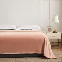 Patura pentru pat Caressa 221, 100 % poliester, roz, 130 x 180 cm
