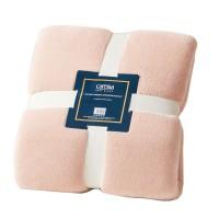 Patura pentru pat Caressa 221, 100 % poliester, roz, 160 x 220 cm