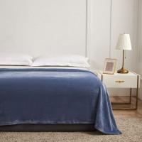Patura pentru pat Caressa 221, 100 % poliester, albastru, 130 x 180 cm