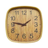Ceas de perete  D3321, analog, patrat, plastic, crem, 30 x 30 cm