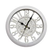 Ceas de perete D3325, analog, rotund, plastic, alb, 28 cm