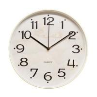 Ceas de perete D3339, analog, rotund, plastic, bej, 30 cm