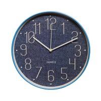 Ceas de perete D3340, analog, rotund, plastic, albastru, 30 cm
