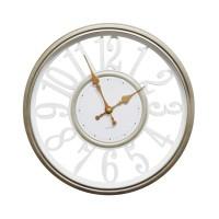 Ceas de perete D3343, analog, rotund, plastic, alb, 30 cm