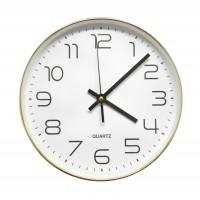 Ceas de perete D3270, analog, rotund, plastic, alb, 25 cm