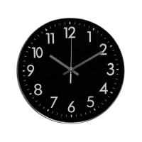 Ceas de perete D3271, analog, rotund, plastic, negru, 30 cm