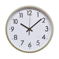 Ceas de perete D3271, analog, rotund, plastic, alb, 30 cm