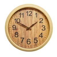 Ceas de perete D3272, analog, rotund, plastic, bej, 25 cm