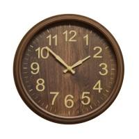 Ceas de perete D3272, analog, rotund, plastic, maro, 25 cm