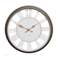 Ceas de perete D3297, analog, rotund, plastic, alb, 30 cm