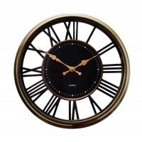 Ceas de perete D3297, analog, rotund, plastic, negru, 30 cm