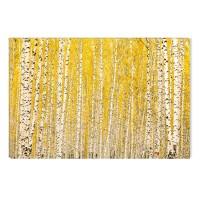 Tablou canvas dualview DTB7583, Startonight, Mesteceni galbeni, panza + sasiu lemn, 60 x 90 cm