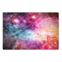 Tablou canvas dualview DTB7587, Startonight, Nebula roz, panza + sasiu lemn, 60 x 90 cm
