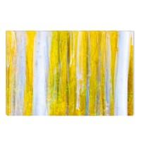 Tablou canvas dualview DTB7755, Startonight, Padure in alb si galben, panza + sasiu lemn, 60 x 90 cm