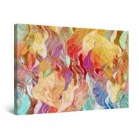 Tablou canvas dualview DTB8455, Startonight, Frunze multicolore, panza + sasiu lemn, 60 x 90 cm