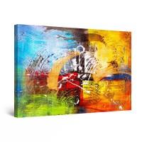 Tablou canvas dualview DTB8571, Startonight, Abstract multicolor, panza + sasiu lemn, 60 x 90 cm