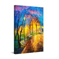 Tablou canvas dualview DTB8863, Startonight, Alee in parc, panza + sasiu lemn, 60 x 90 cm