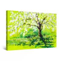 Tablou canvas dualview DTB9051, Startonight, Marul inflorit, panza + sasiu lemn, 60 x 90 cm