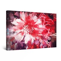 Tablou canvas dualview DTB9143, Startonight, Flori plapande, panza + sasiu lemn, 60 x 90 cm