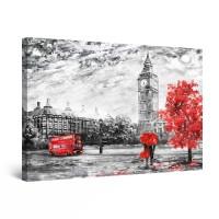 Tablou canvas dualview DTB9443, Startonight, Accente de rosu, panza + sasiu lemn, 60 x 90 cm