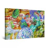 Tablou canvas dualview DTB9471, Startonight, Femeia cu umbrela verde, panza + sasiu lemn, 60 x 90 cm