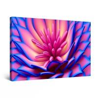Tablou canvas dualview DTB10459, Startonight, Floare in roz albastrui, panza + sasiu lemn, 90 x 60 cm