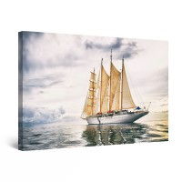 Tablou canvas dualview DTB10495, Startonight, Vapor pe mare, panza + sasiu lemn, 90 x 60 cm