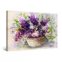 Tablou canvas dualview DTB10727, Startonight, Flori de liliac, panza + sasiu lemn, 90 x 60 cm