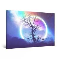 Tablou canvas dualview DTB10771, Startonight, Cerc de lumina, panza + sasiu lemn, 90 x 60 cm