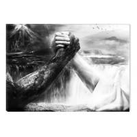 Tablou canvas dualview BLACK1157, Startonight, Binele invinge, panza + sasiu lemn, 60 x 90 cm