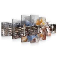 Tablou canvas dualview 7MULTICANVAS280, Startonight, Chitaristul, panza + sasiu lemn, 7 piese, 100 x 240 cm