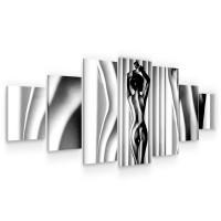 Tablou canvas dualview 7MULTICANVAS284, Startonight, Curbe feminine, panza + sasiu lemn, 7 piese, 100 x 240 cm