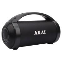 Boxa portabila activa Akai ABTS-21H, 6.5 W RMS, Bluetooth, USB, Aux in, radio FM, lumini difuzor, functie True Wireless Stereo, indicator LED nivel baterie, neagra