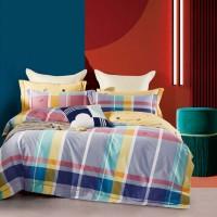 Lenjerie de pat Caressa BC002 321, 2 persoane, bumbac satinat 100 %, imprimeu, 4 piese