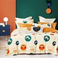 Lenjerie de pat Caressa BX219 321, 2 persoane, bumbac satinat 100 %, imprimeu, 4 piese