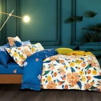 Lenjerie de pat Caressa BX300 321, 2 persoane, bumbac satinat 100 %, imprimeu, 4 piese