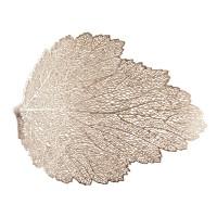 Decoratiune Frunza 3501, cauciuc, auriu, 47 x 36 cm