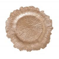 Platou decorativ 4836, polirasina, auriu, 32 x 2 cm