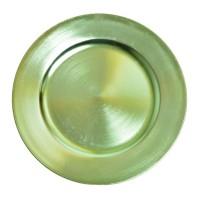 Platou decorativ 4937, polirasina, verde, 33 x 1.5 cm